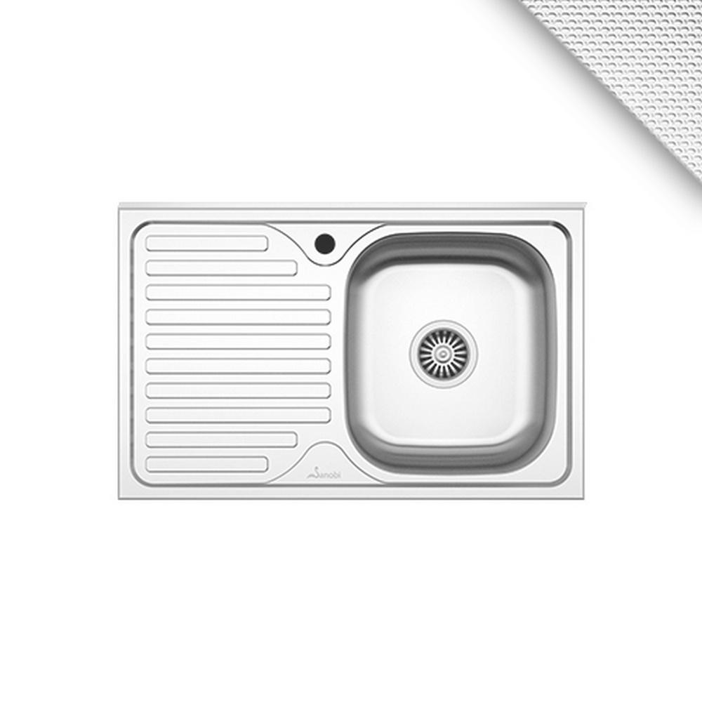 CHIUVETA INOX 1101.MDL 80x50 1C1P DR.LN SANOBI (1/10)