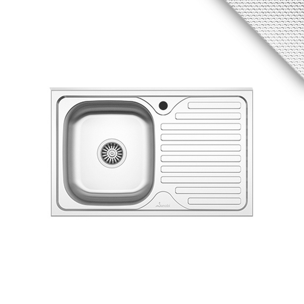 CHIUVETA INOX 1101.MSL 80x50 1C1P ST.LN SANOBI (1/10)